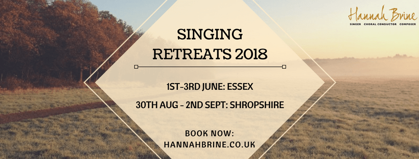 Singing Retreat 2018